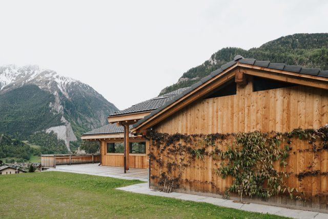 détail extérieur maison Valais